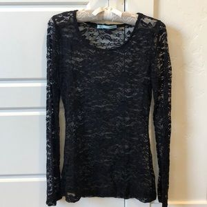 Sheer Lace Top!